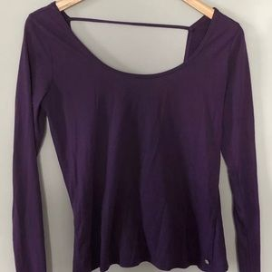 Fabletics Open Back Long-Sleeve Shirt Size XS